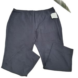 Wynne Layers Grey Pull-On Crepe Pants Size 2X